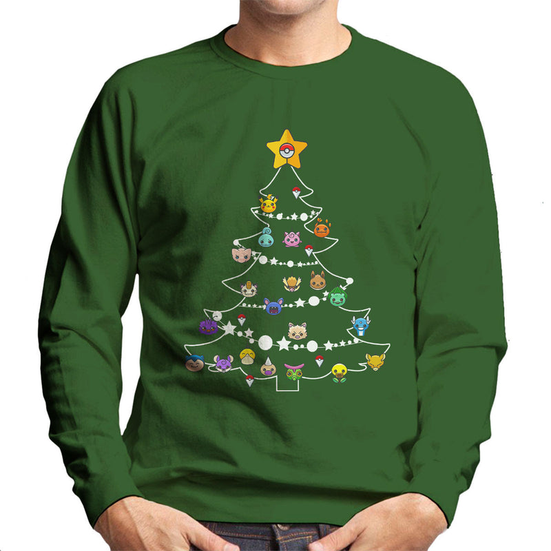 Pokemon Bulbs Christmas Tree Men's Sweatshirt