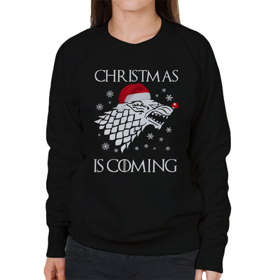 Christmas is Coming Stark Direwolf Sigil Game Of Thrones Women's Sweatshirt