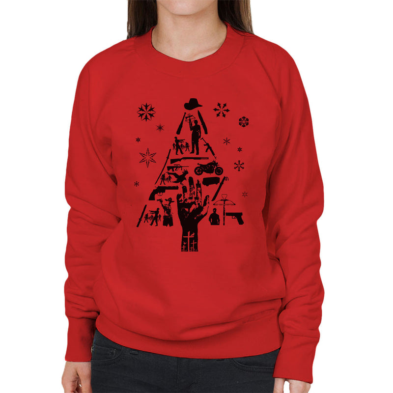 Walking Dead Christmas Tree Silhouette Women's Sweatshirt