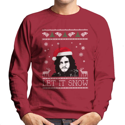 Let It Snow Jon Snow Christmas Game Of Thrones Men's Sweatshirt