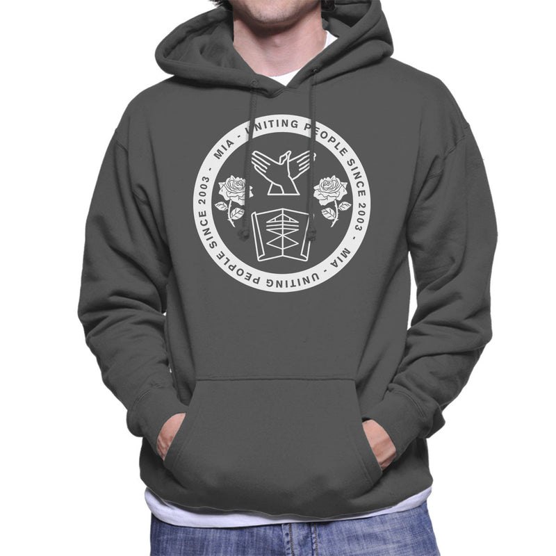 M.I.A. Uniting People Since 2003 White Men's Hooded Sweatshirt - NME Merch