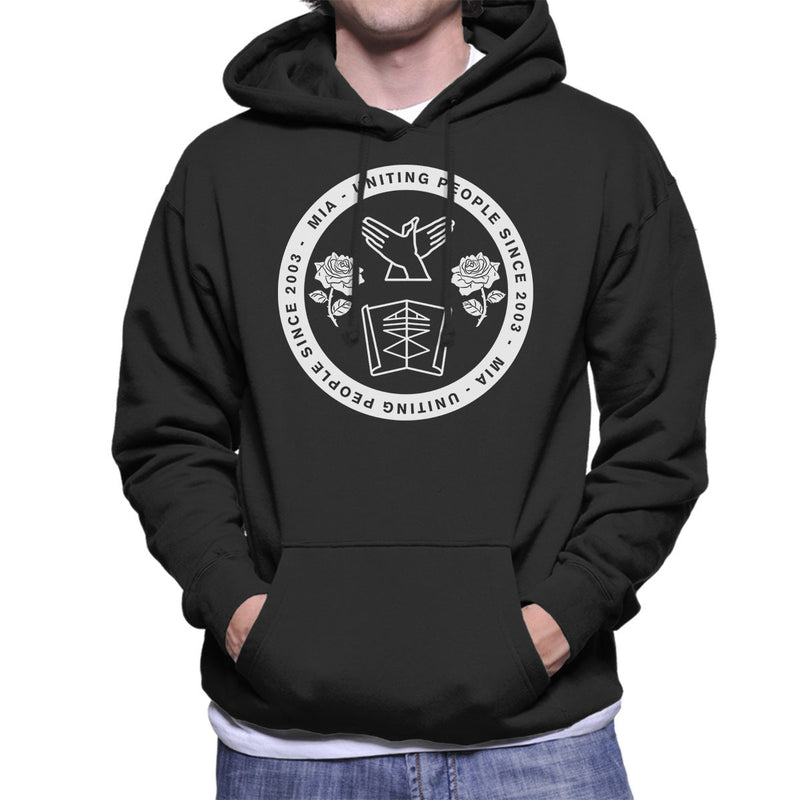 MIA Uniting People Since 2003 White Men's Hooded Sweatshirt