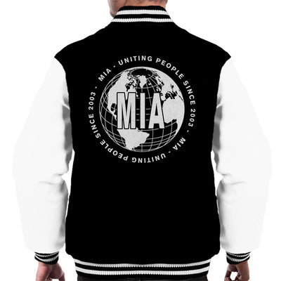 MIA Uniting People Since 2003 World White Men's Varsity Jacket