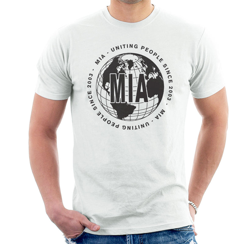 M.I.A. Uniting People Since 2003 World Black Men's T-Shirt - NME Merch