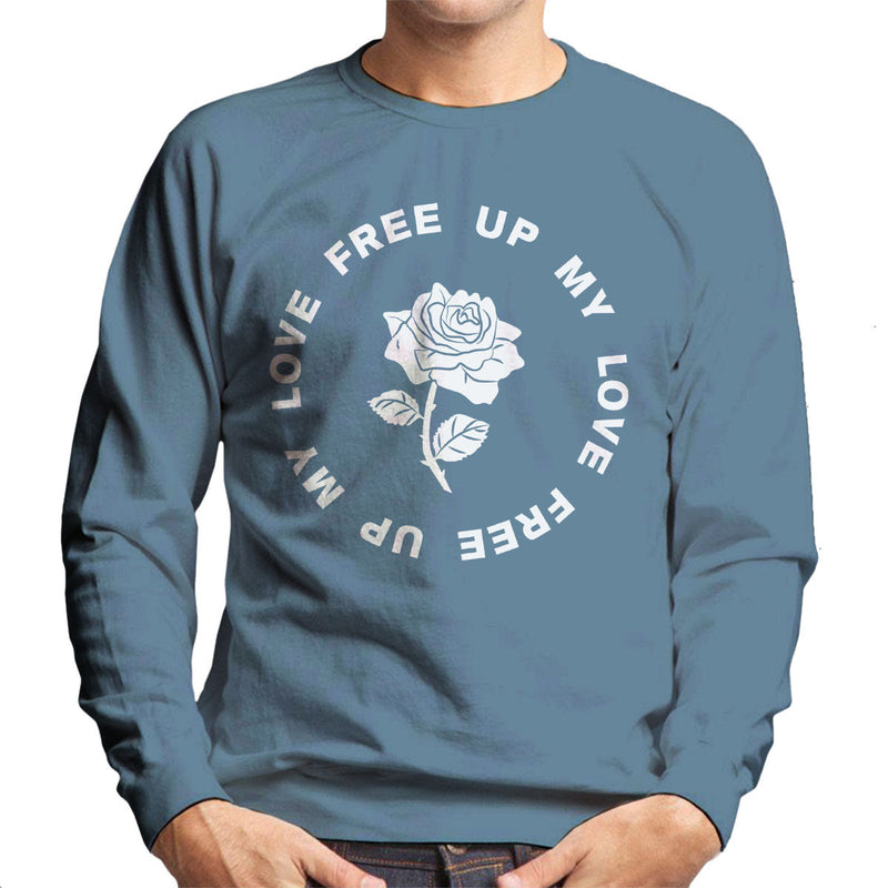 M.I.A. Free Up My Love Rose White Men's Sweatshirt