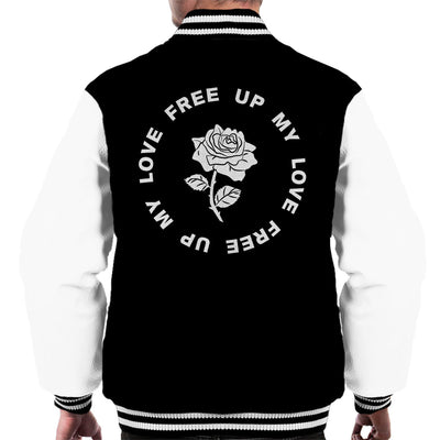MIA Free Up My Love Rose White Men's Varsity Jacket