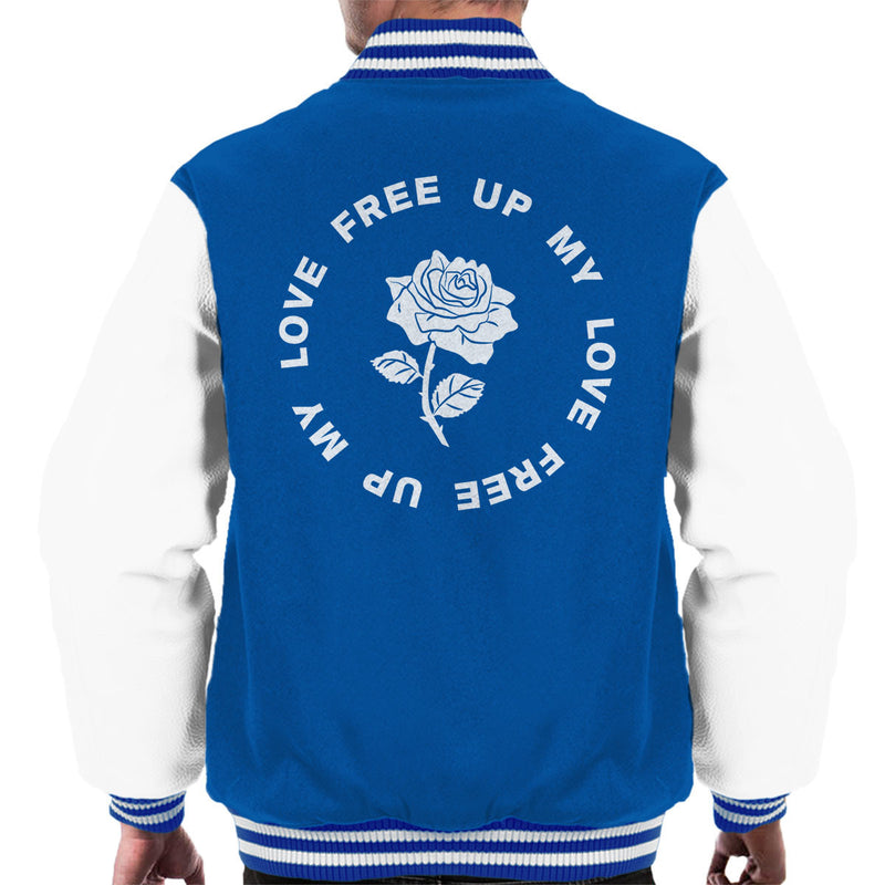 M.I.A. Free Up My Love Rose White Men's Varsity Jacket - NME Merch