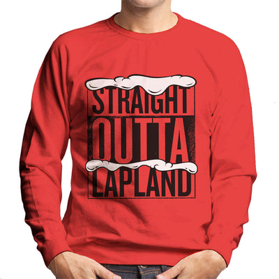 Straight Outta Lapland Christmas Parody Men's Sweatshirt - NME Merch