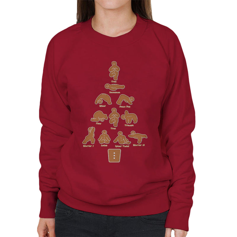 Gingerbread Man Yoga Christmas Women's Sweatshirt