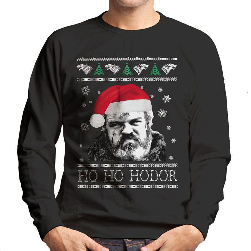 Game Of Thrones Ho Ho Hodor Christmas Knit Men's Sweatshirt
