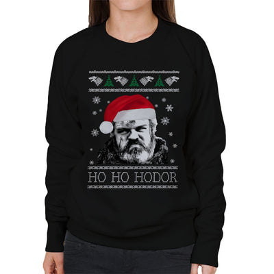 Game Of Thrones Ho Ho Hodor Christmas Knit Women's Sweatshirt