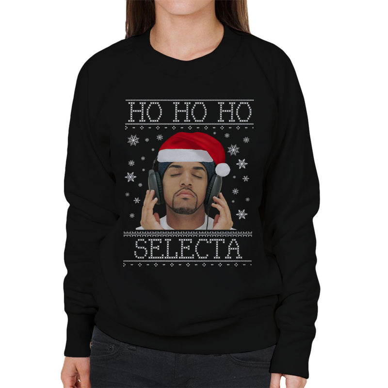 Ho Ho Ho Selecta Craig David Christmas Knit Women's Sweatshirt