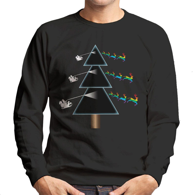 Pink Floyd Dark Side Of The Christmas Tree Parody Men's Sweatshirt - NME Merch