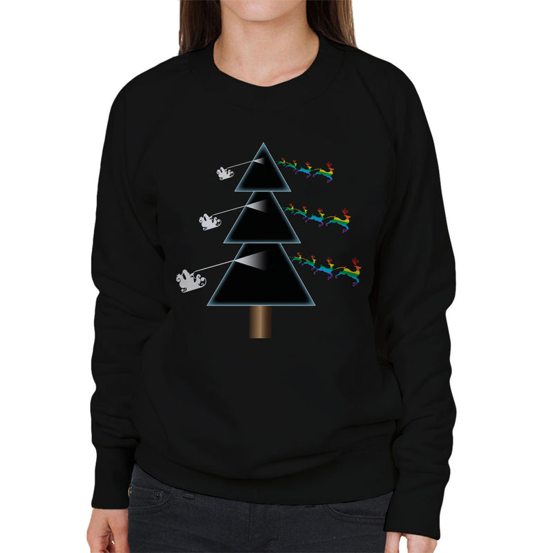 Pink Floyd Dark Side Of The Christmas Tree Parody Women's Sweatshirt - NME Merch