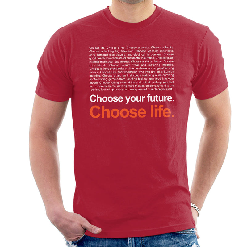 Trainspotting T2 Inspired Choose Life Quote Men's T-Shirt - NME Merch