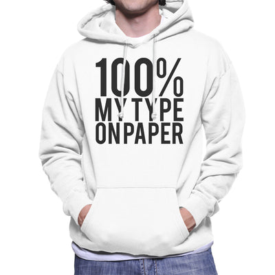 Love Island Quote 100 Percent My Type On Paper Black Men's Hooded Sweatshirt - NME Merch