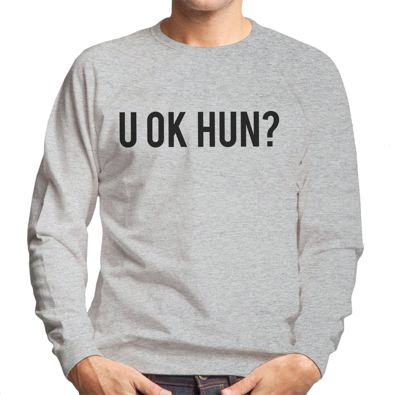 U OK HUN Black Men's Sweatshirt - NME Merch