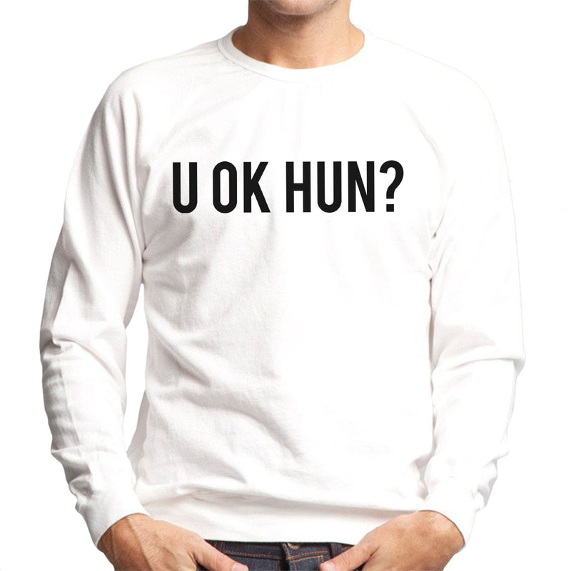 Love Island U OK HUN Black Men's Sweatshirt