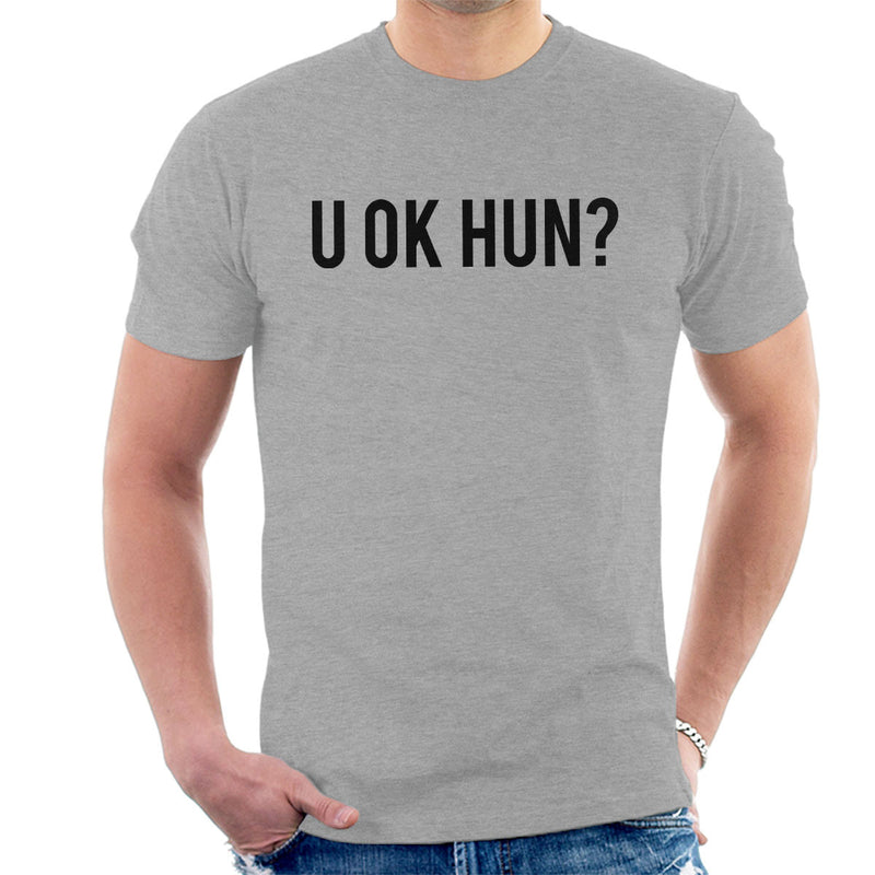 U OK HUN Black Men's T-Shirt - NME Merch