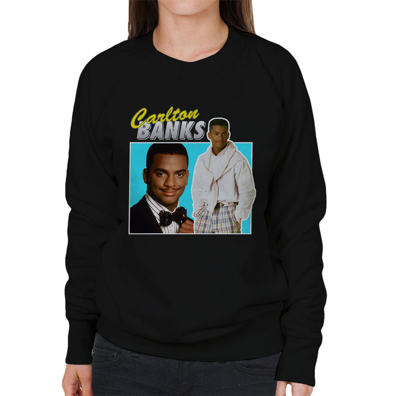 Carlton Banks Montage Fresh Prince Of Bel Air Women's Sweatshirt