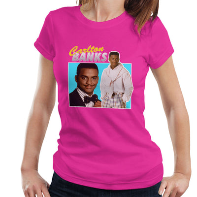 Carlton Banks Tribute Montage Fresh Prince Of Bel Air Women's T-Shirt - NME Merch