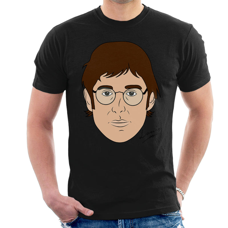 Louis Theroux Inspired Caricature Face Men's T-Shirt - NME Merch
