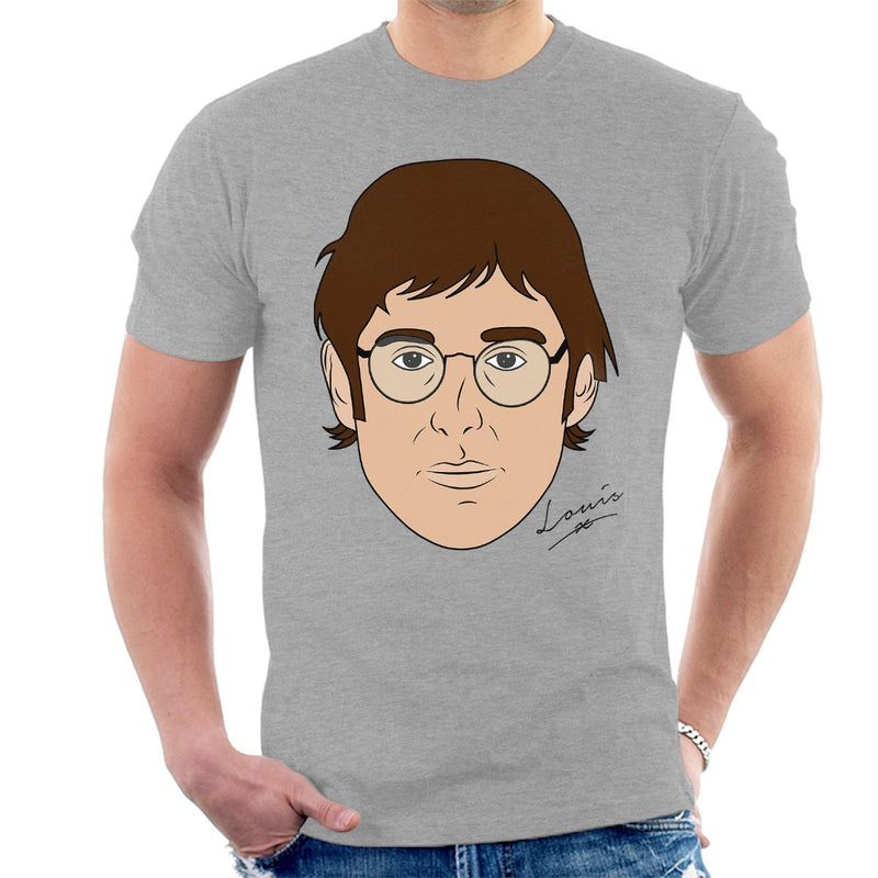 Louis Theroux Caricature Face Men's T-Shirt