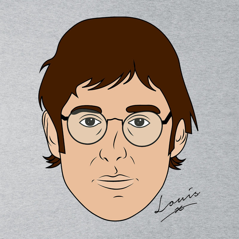 Louis Theroux Inspired Caricature Face Men's Sweatshirt - NME Merch