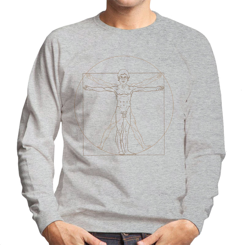 Louis Theroux Inspired Vitruvian Man Leonardo da Vinci Men's Sweatshirt - NME Merch