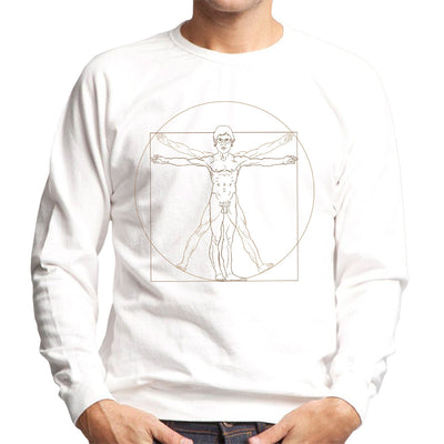 Louis Theroux Vitruvian Man Leonardo da Vinci Men's Sweatshirt