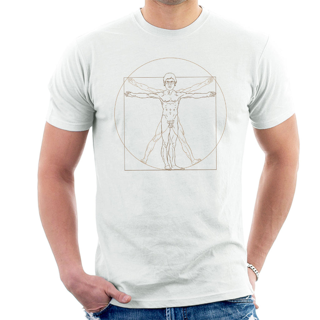 Louis Theroux Vitruvian Man Leonardo da Vinci Men's T-Shirt