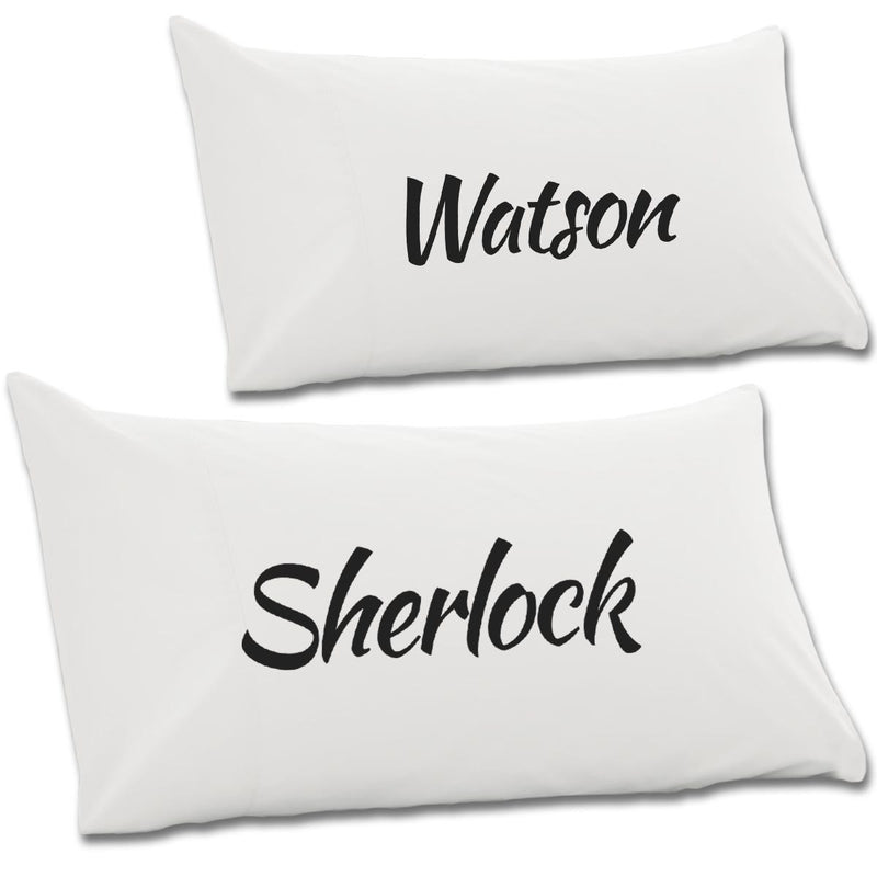 Sherlock & Watson Pair Of Pillow Cases