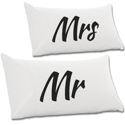 Mr & Mrs Pair Of Pillow Cases - NME Merch
