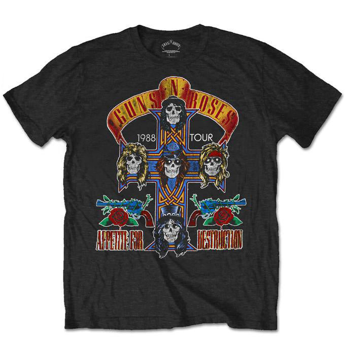 Guns N' Roses Special Edition Tours That Rocked The World: 1988 Tour Men's T-Shirt