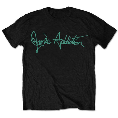 Jane's Addiction Script Logo Men's T-Shirt - NME Merch