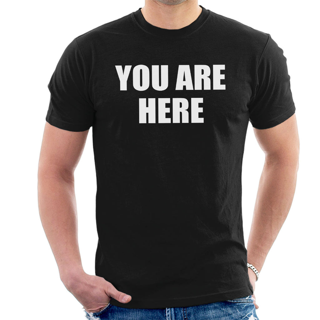 You Are Here Worn By John Lennon The Beatles Men's T-Shirt
