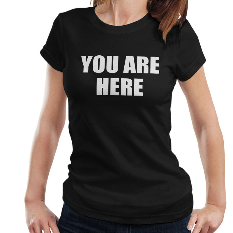 You Are Here Worn By John Lennon The Beatles Women's T-Shirt