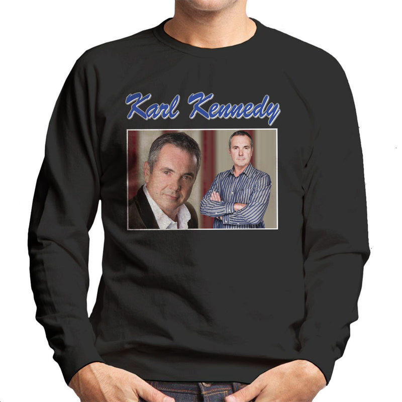 Karl Kennedy Neighbors Tribute Montage Men's Sweatshirt