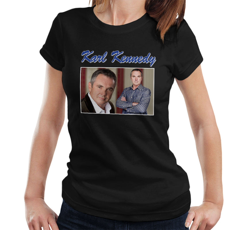 Karl Kennedy Neighbors Tribute Montage Women's T-Shirt