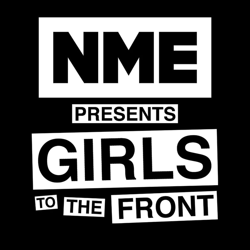 NME Presents Girls To The Front White Design Women's T-Shirt - NME Merch