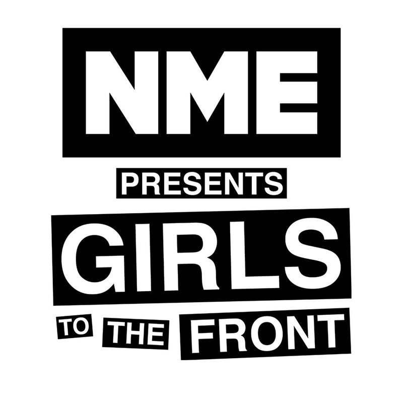 NME Presents Girls To The Front Black Design Women's T-Shirt - NME Merch