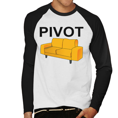 Friends Inspired Ross Quote Pivot Men's Baseball Long Sleeved T-Shirt