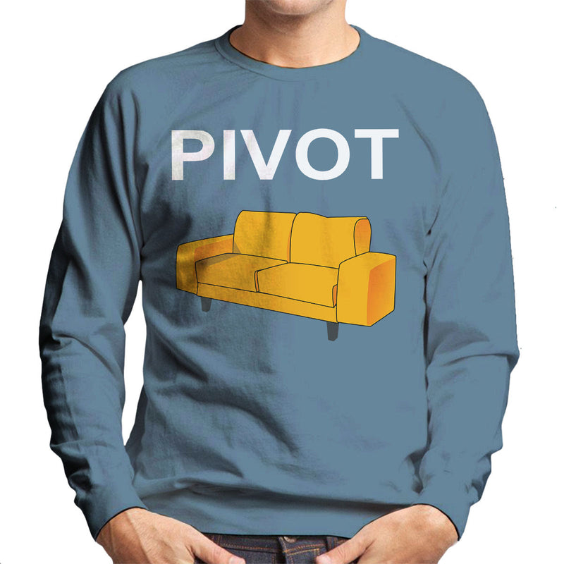 Friends Inspired Ross Quote Pivot White Men's Sweatshirt - NME Merch
