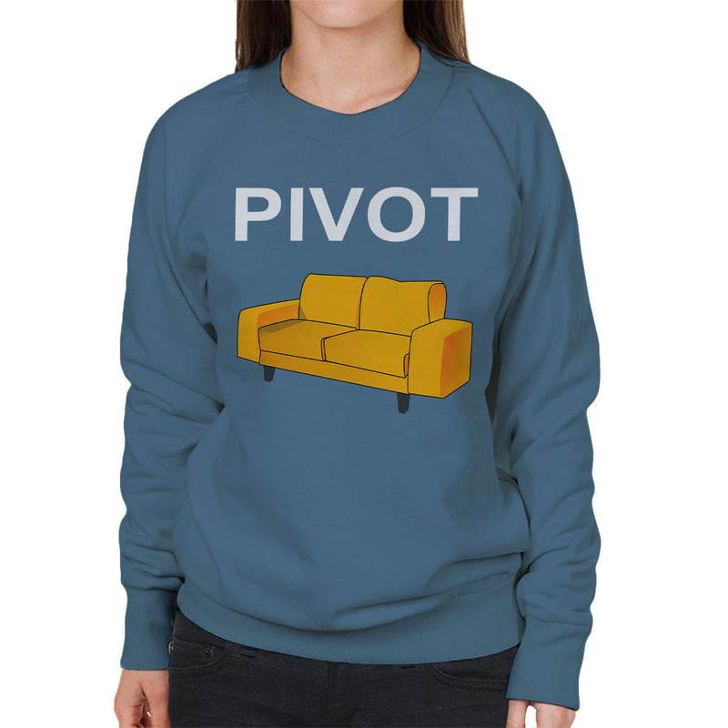 Friends Inspired Ross Quote Pivot White Women's Sweatshirt - NME Merch
