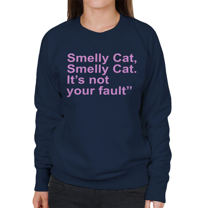 Friends Inspired Pheobe Quote Smelly Cat Pink Women's Sweatshirt - NME Merch