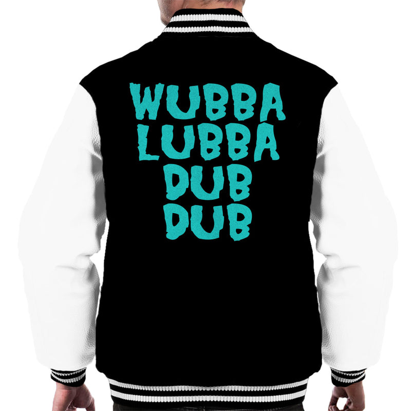Rick and Morty Inspired Wubba Lubba Dub Dub Blue Men's Varsity Jacket