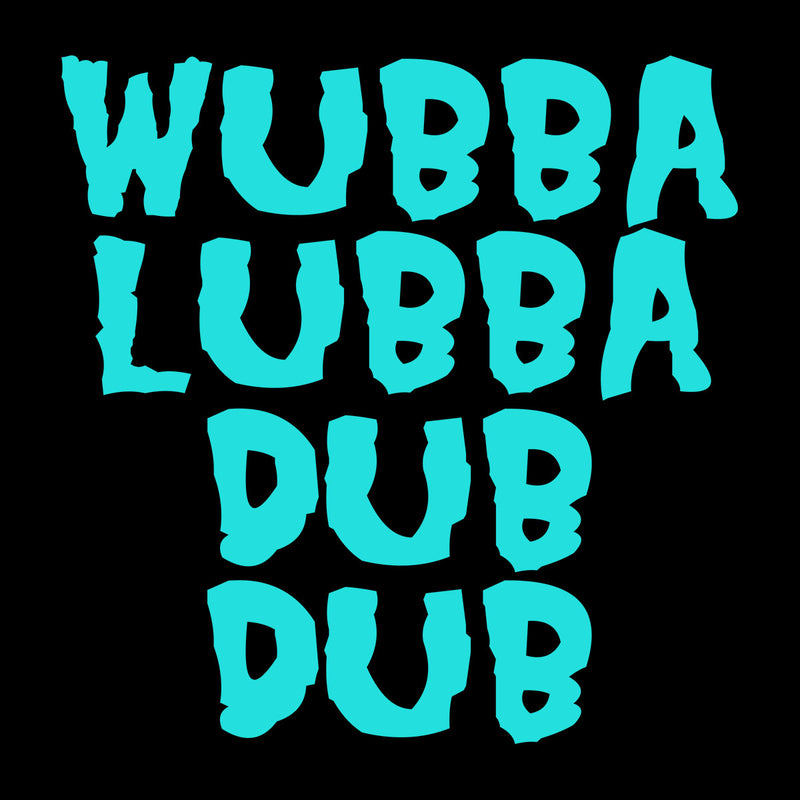 Rick and Morty Inspired Wubba Lubba Dub Dub Blue Women's Sweatshirt - NME Merch