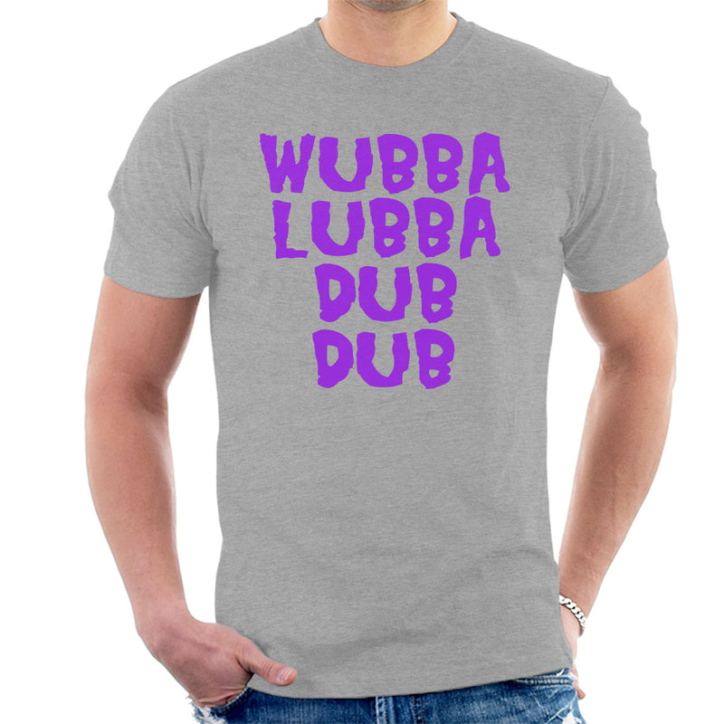Rick and Morty Inspired Wubba Lubba Dub Dub Purple Men's T-Shirt