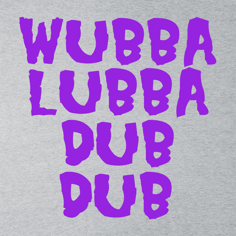 Rick and Morty Inspired Wubba Lubba Dub Dub Purple Men's T-Shirt - NME Merch