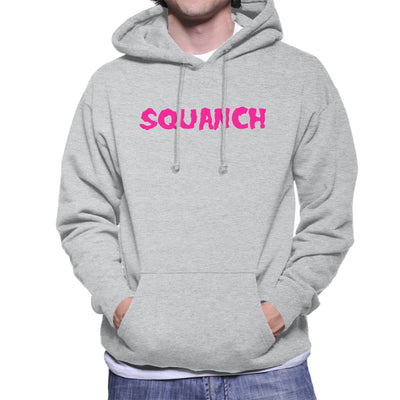 Rick and Morty Squanch Pink Men's Hooded Sweatshirt